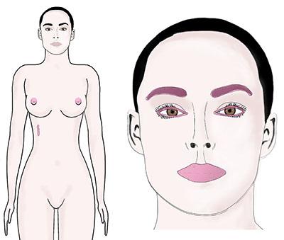 dermopigmentation levres sourcils